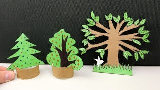 How to Make Cardboard Trees #63 - Crafts for Kids