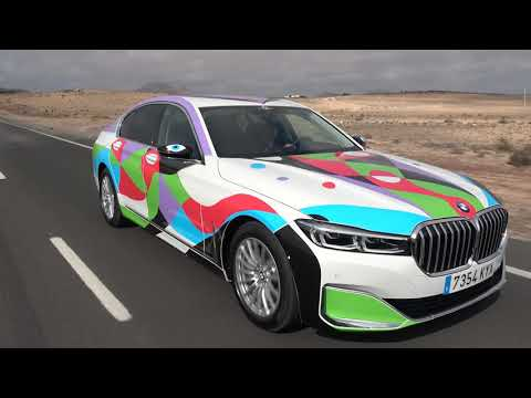 El BMW manriqueño de Cicar, circulando por Lanzarote