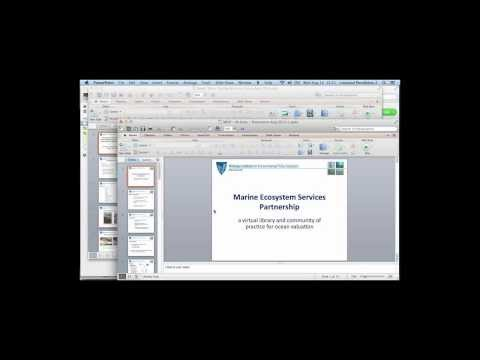 Demonstration of Marine Valuation Databases