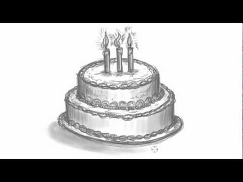 How To Draw A Birthday Cake Make Your Own Birthday Card Mat