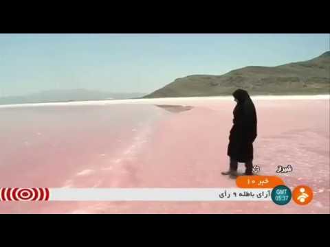 Iran Artemia farming, Maharlou Pink lake, Fars province پرورش آرتميا درياچه صورتي مهارلو فارس ايران