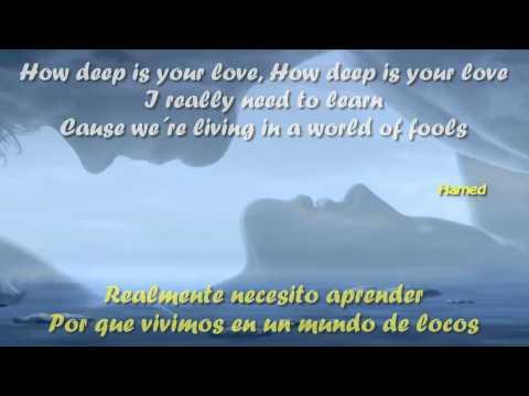 How Deep Is Your Love Letra y Traducido Bee Gees HD
