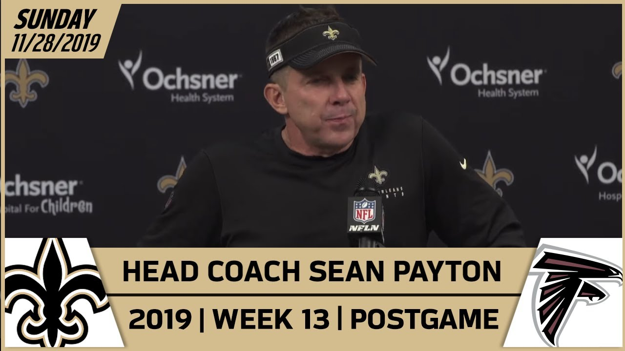 Sean Payton Postgame Reactions After Week 13 Win Vs Falcons New Orleans Saints Football