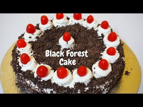 How to make eggless black forest cake without oven in hindi