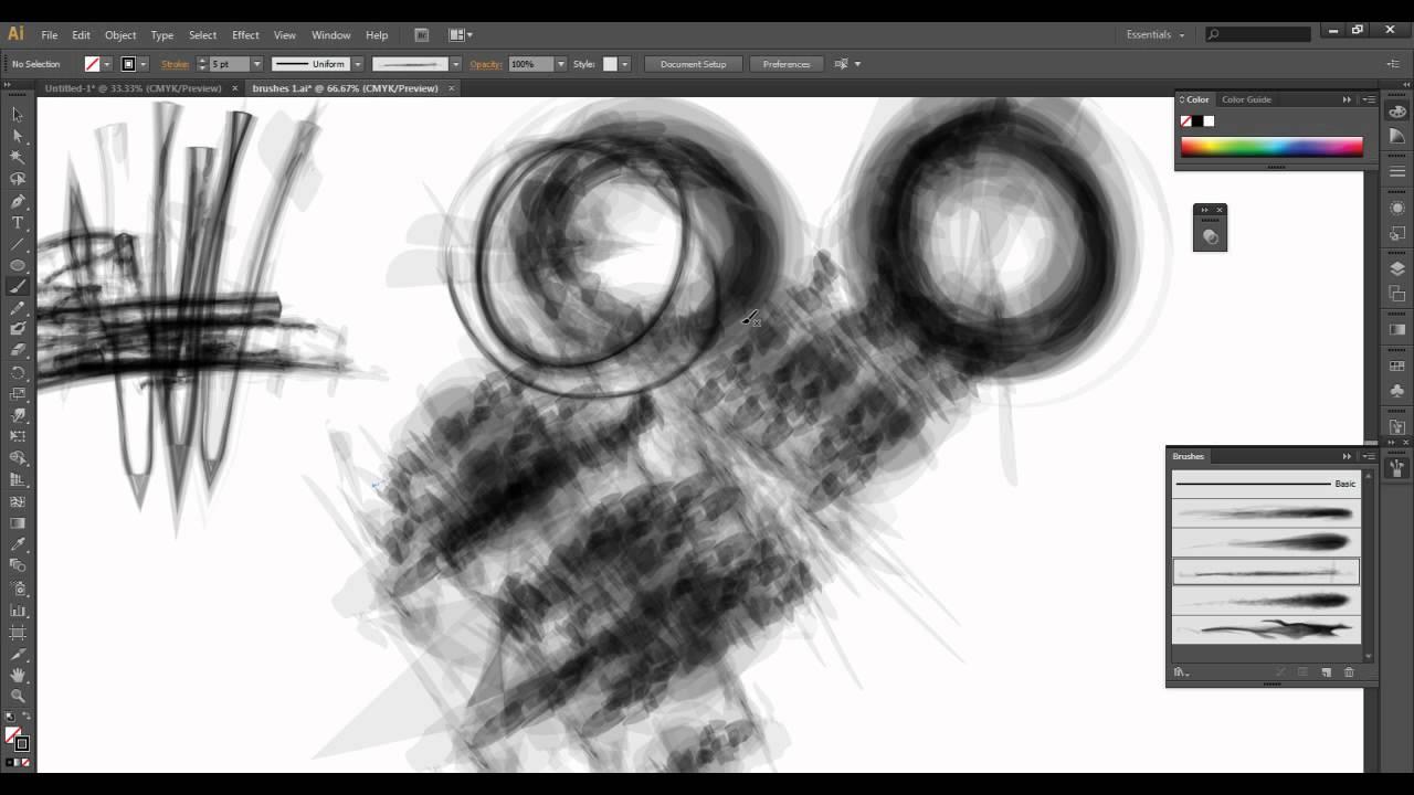 Adobe Illustrator Brush Tutorial Vol 1 Youtube