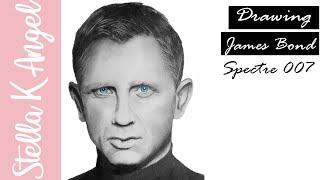 Drawing James Bond (Daniel Craig)