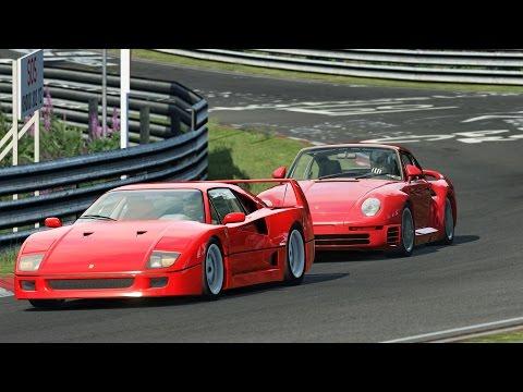 Porsche 959 vs Ferrari F40 / ON BOARD / Nürburgring / Assetto Corsa |