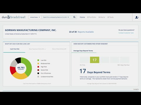 Dun & Bradstreet Credit Reporter - The Smart, Simple Way to Manage Business Credit Risk