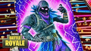Drawing Fortnite Battle Royale Raven - New Legendary Skin - How to Draw Raven / lookfishart
