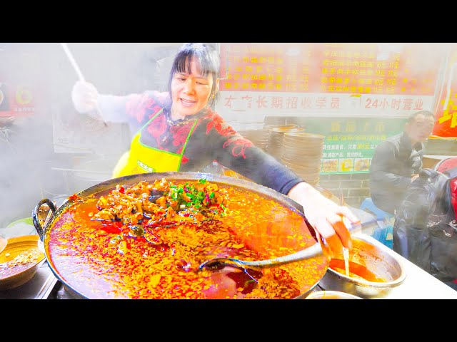 NUCLEAR Chinese Street Food NOODLE Tour of Chongqing, China - 5 INSANE SPICY + Chinese  Noodles!!