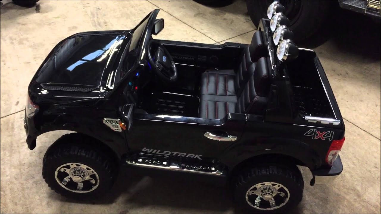 ford ranger 12 volt electric kids car review after built by team revtune youtube