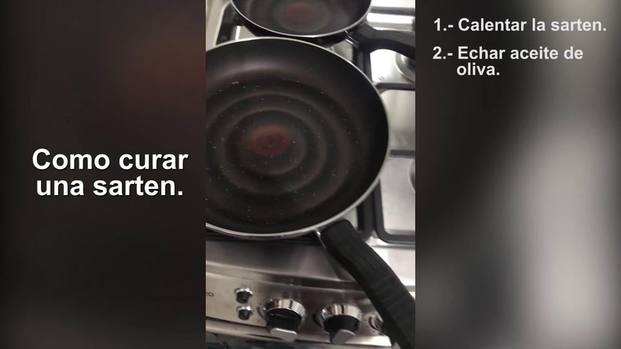 como curar un wok antiadherente