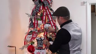 DECORATE WITH ME / CHRISTMAS TREE ON A BUDGET/Snowman Designer Christmas Tree (under a hundred Dlls)