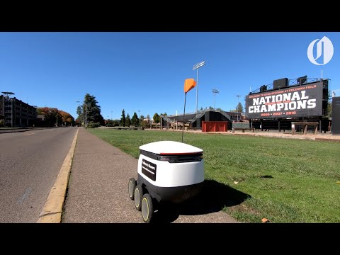 "Robots offer ""contactless"" food delivery to Oregon State students"