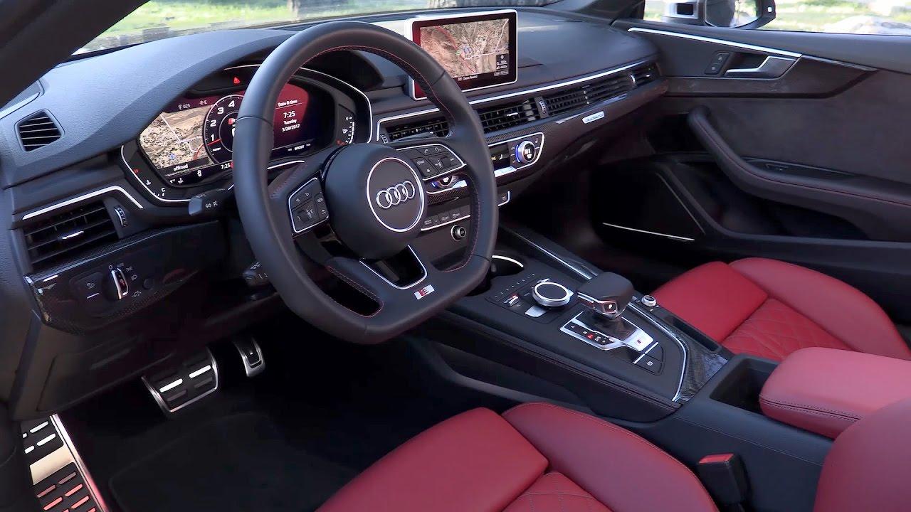 2018 audi s5 coupe interior us spec youtube