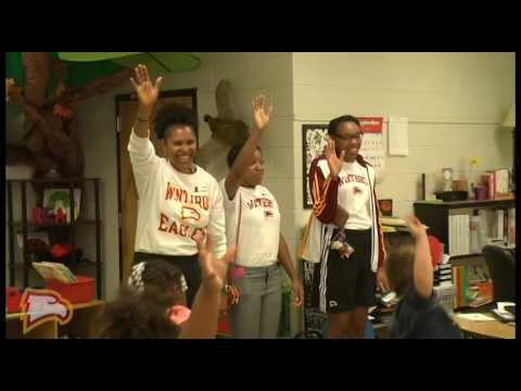 Women's Basketball Visits  Ebenezer Avenue Elementary School