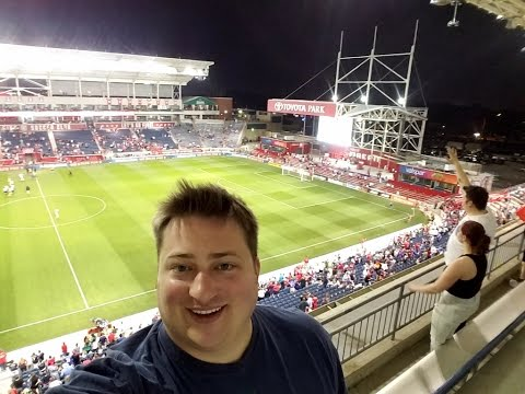 CHICAGO FIRE GAME AT TOYOTA PARK SUPER WINDY
