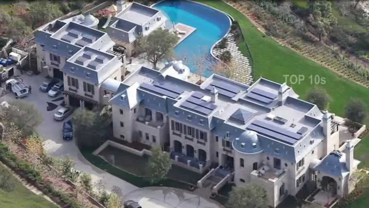 top10 crazy celebrity homes youtube - Biggest House In The World 2016 Minecraft