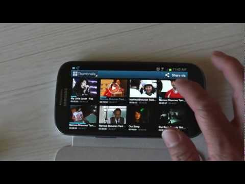Video Player on the T-Mobile Samsung Galaxy S3