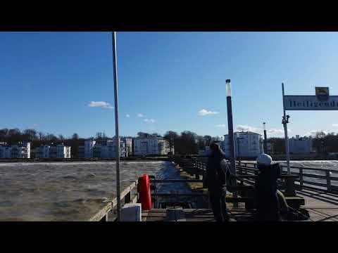 Heiligendamm Seebrücke Sturm Mit Hochwasser 29.03.2020