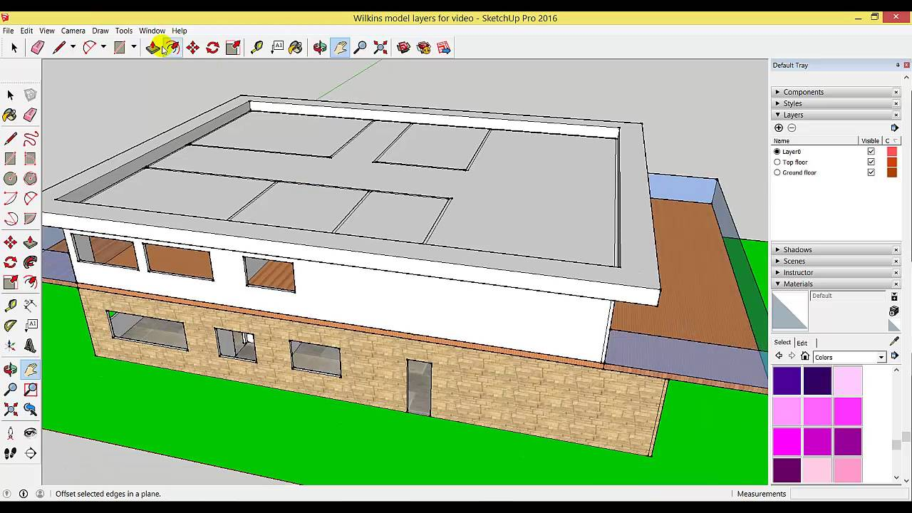 Sketchup 10 Creating A Flat Roof Youtube