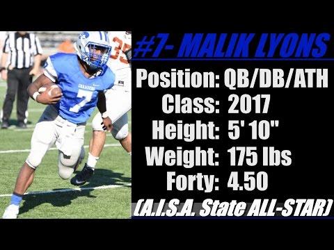 "2017- Street Light Recruiting ATH- Malik Lyons 'SR YR' (5' 10""-175 lbs) Chambers Academy (AL)"