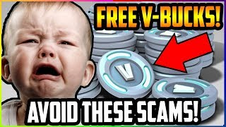 Top 10 Fortnite V-BUCKS SCAMS You NEED To AVOID (Battle Royale & Save The World)