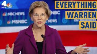 Everything Elizabeth Warren Said During the Democratic Debate in Atlanta | NBC New York