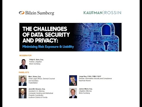 Data Security Recorded Panel Webinar