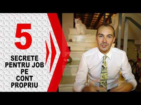 Cum sa ai un Job pe Cont Propriu - 5 Secrete