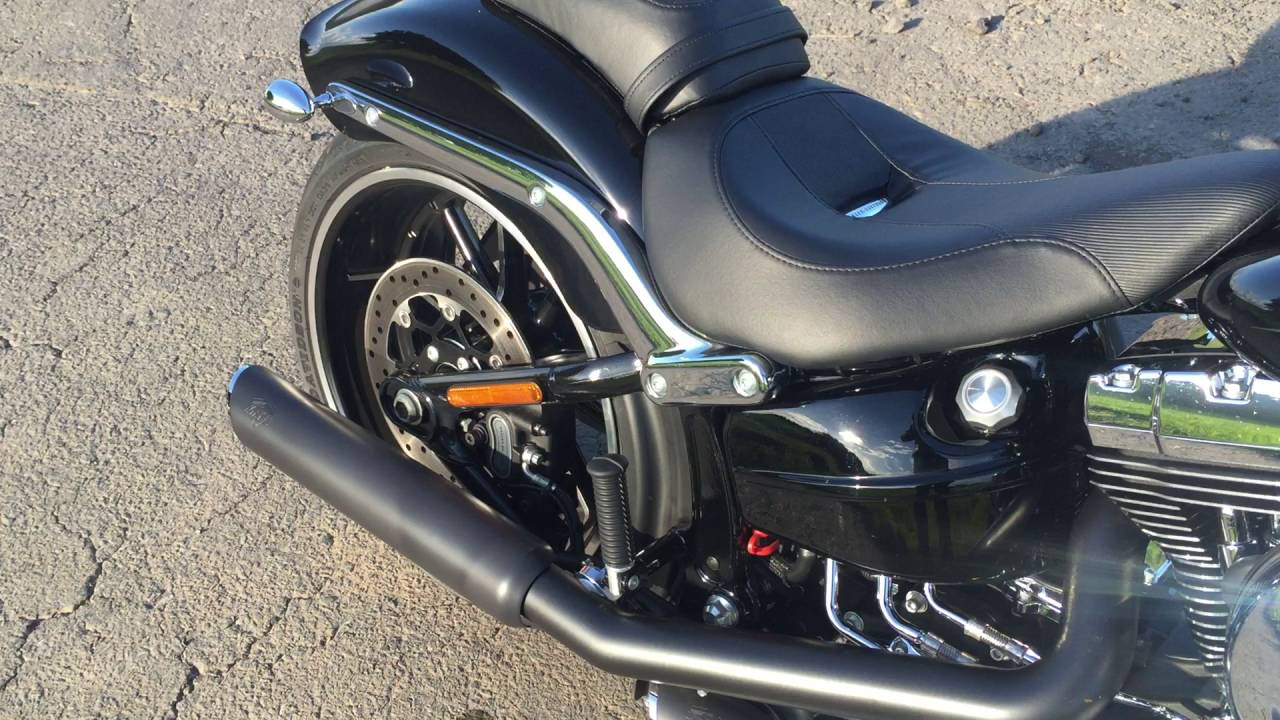 Harley davidson fxsb softail breakout 2016 vance and hines exhaust sound youtube