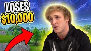 REACTING TO LOGAN PAUL LOSING $10,000 (Fortnite Battle Royale)