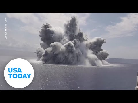 US Navy tests aircraft carrier with massive explosion | USA TODAY