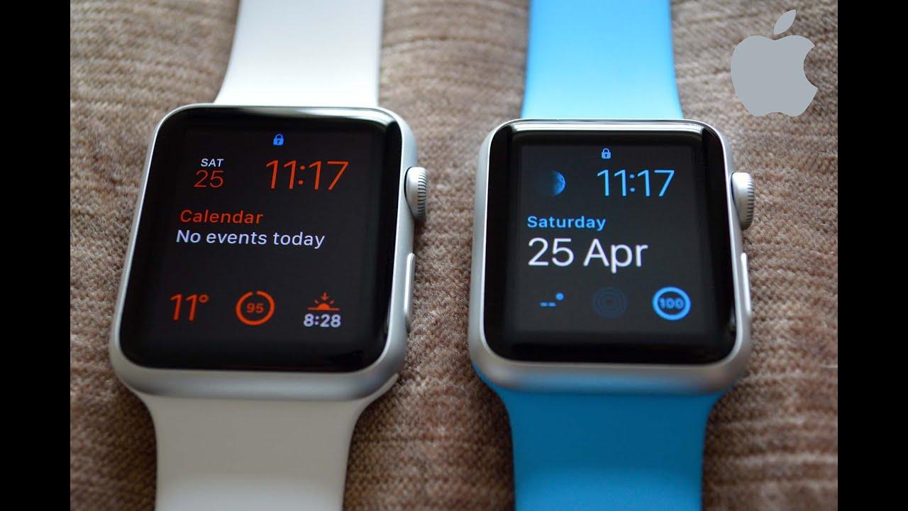 f4aa6d8fb4bcf Apple Watch 42mm v 38mm Size Comparison - YouTube