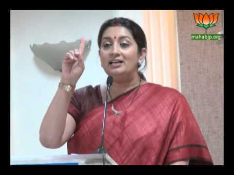 "Smriti Irani during Interactive session on "" Politics of Modi "" at Mumbai IMC Mar 06, 2014"
