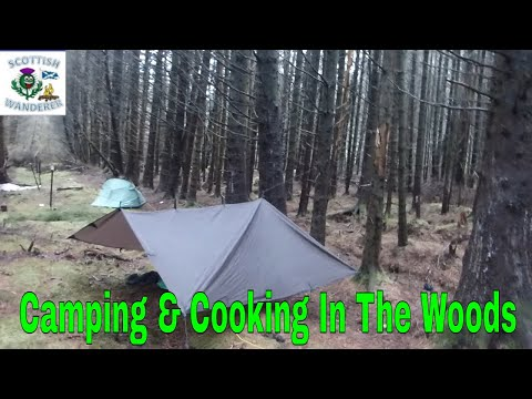 Bushcraft Camp Wild Camping Scotland In The Woods Galloway Forest Bushcraft Cooking