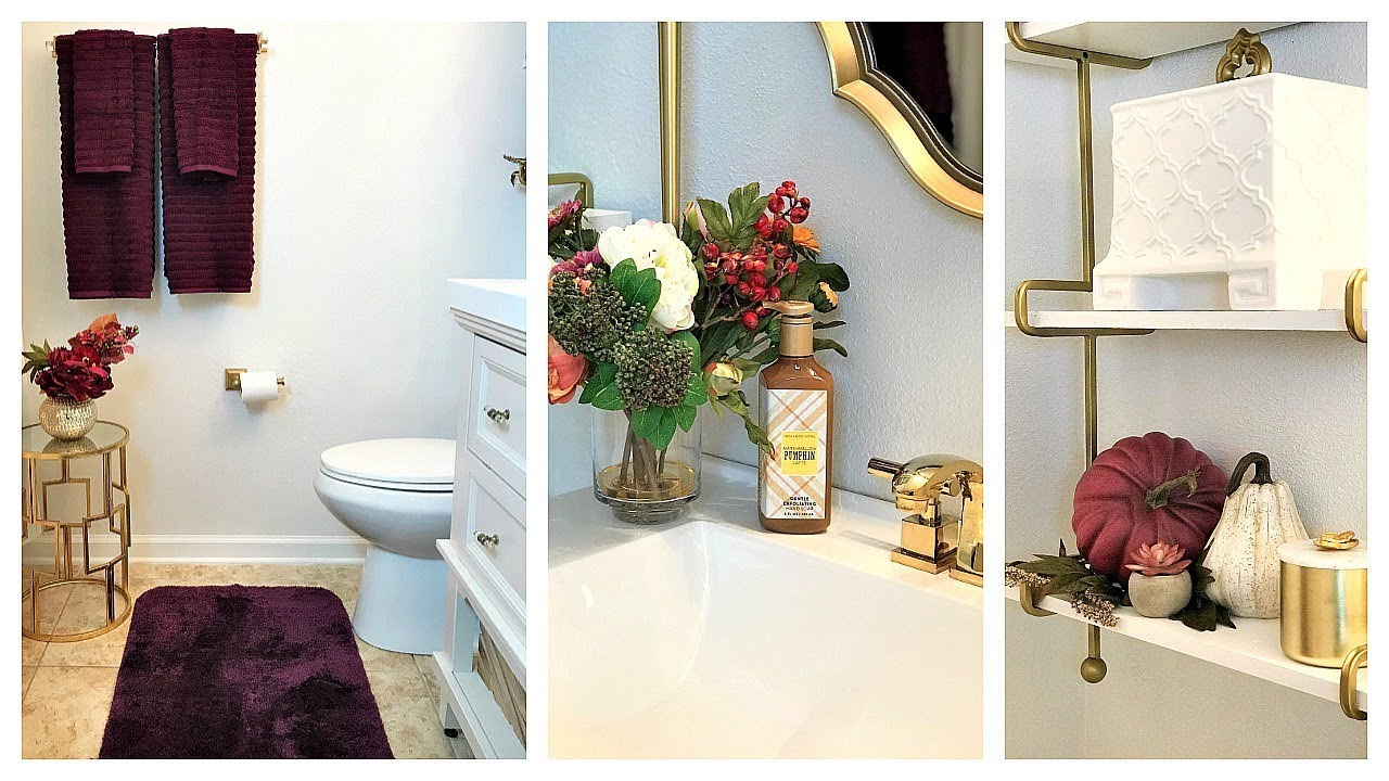 NEW! Fall Clean & Decorate With Me | Guest Bathroom & Front Porch ...