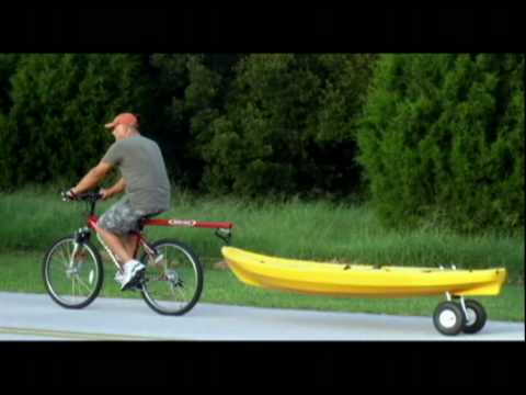 dumbstick video_0002.avi: The Dumb Stick bicycle tow bar allows you to easily tow your kayak or canoe behind behind your bicycle.