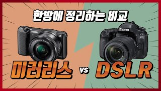 미러리스 vs DSLR 뭘 사야할까?!
