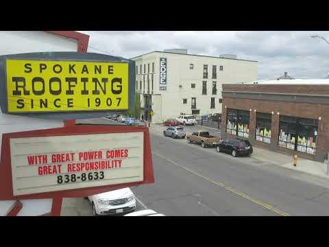 Spokane Roofing Company Headquarters Aerial Survey
