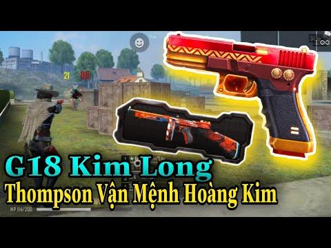 (FREEFIRE) G18 Kim Long Vs Thompson Vận Mệnh Hoàng Kim   Nam Lầy.