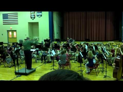 East Oldham Middle School 7th Grade Band Christmas Concert 2012