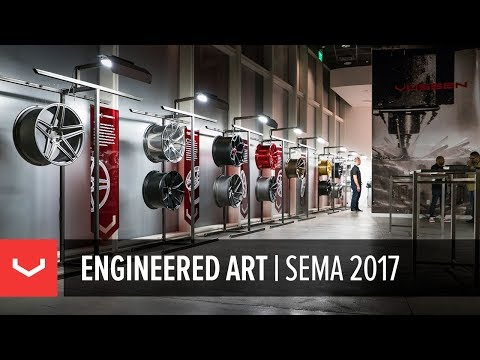 The Vossen Engineered Art Gallery at SEMA 2017 in Las Vegas