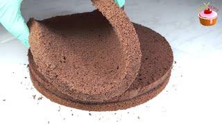 Шоколадный бисквит без соды и разрыхлителя, который не опадает - Идеальный бисквит для торта Прага