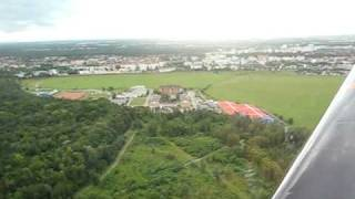Approach to land at Strasbourg Neuhof Airport