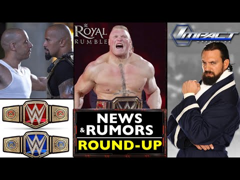 WWE NEWS Round Up: Damien Sandow Signs With IMPACT WRESTLING | Lesnar TITLE Shot | The Rock, + MORE!