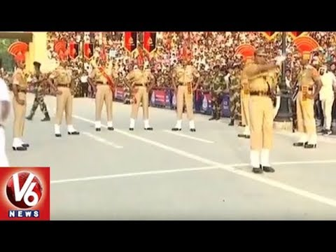 Beating Retreat Ceremony At Wagah Border | Independence Day | V6 News