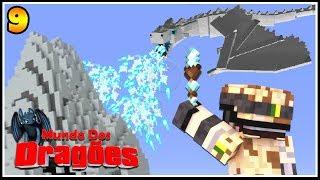 MEU DRAGÃO CONGELOU UMA MONTANHA! - Minecraft Mundo dos Dragões #9