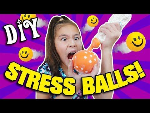 EXPLODING STRESS BALL!!! How to Make DIY Stress Balls with Jillian!
