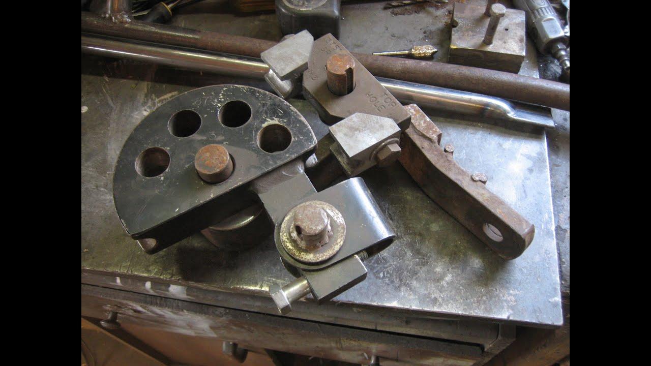 """Exhaust Tubing Bender >> Homemade Manual Bender using JD2 Die Set 7/8"""" - YouTube"""